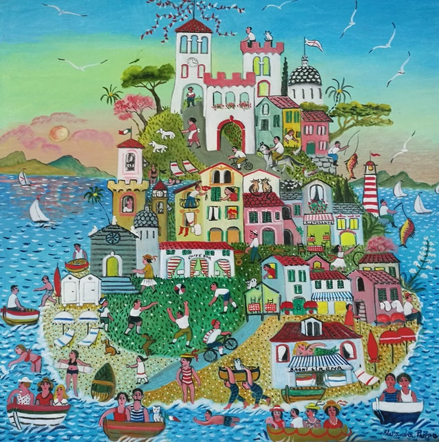 Alessandra Happy Island 100x100