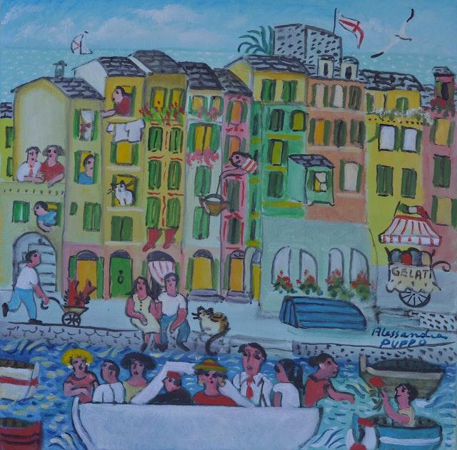 Alessandra The Boat 50x50