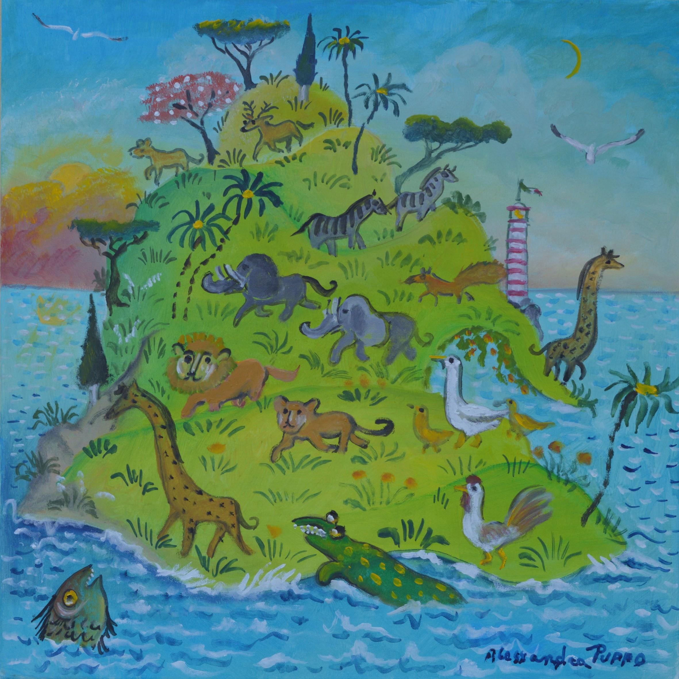Alessandra Wild Island 50x50