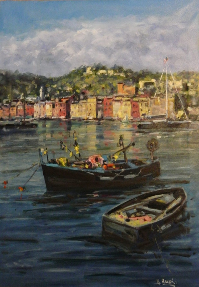 Antonio The Harbour of Portofino 70x100
