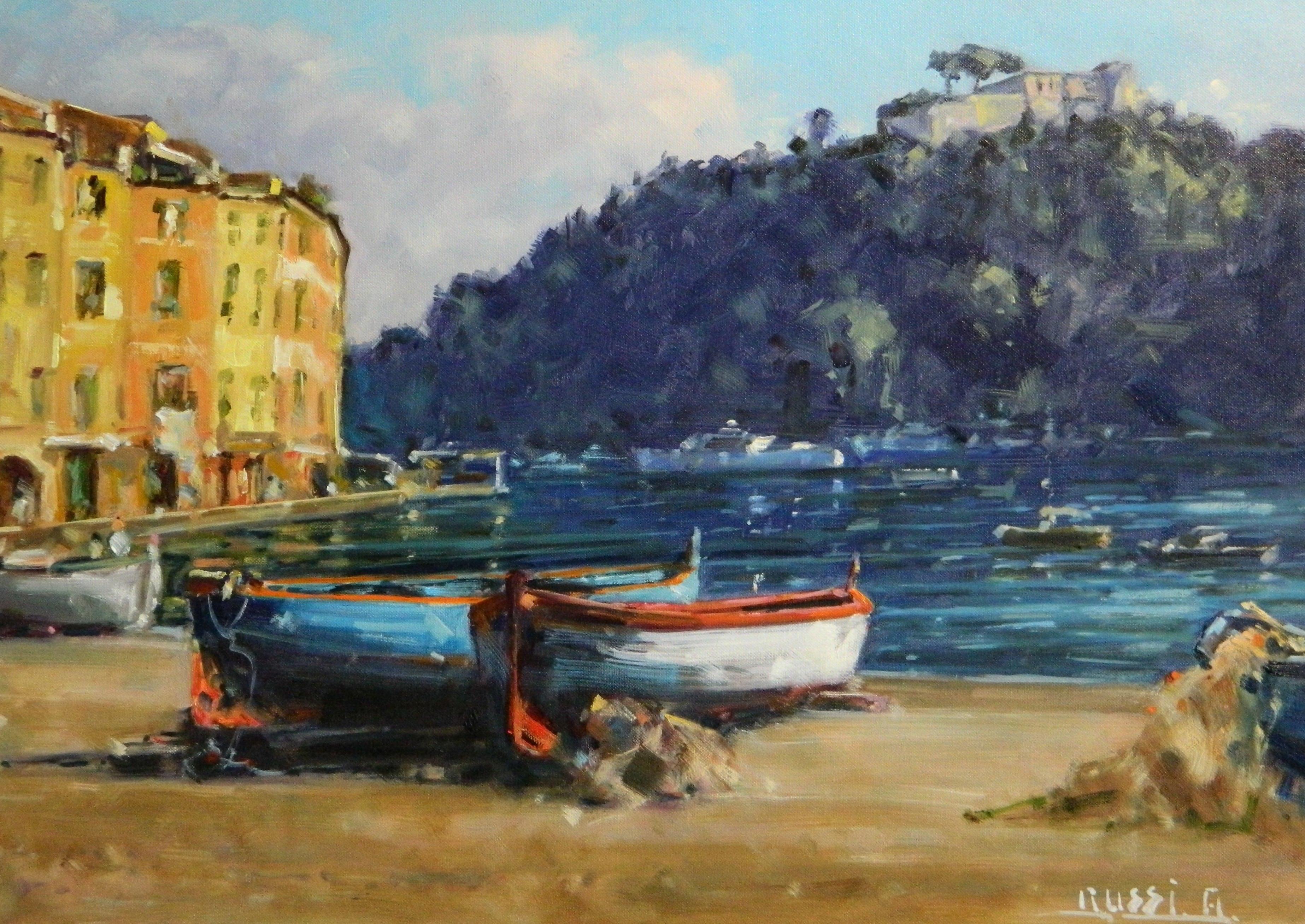 Antonio Boats of Portofino 70x50