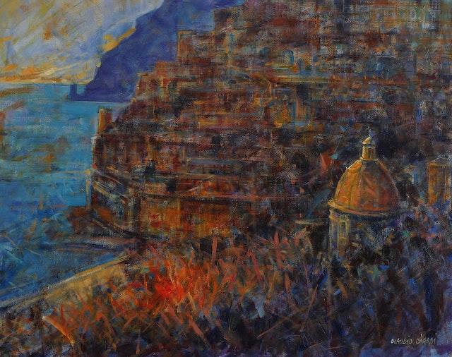 Claudio Sunset in Positano 80x80