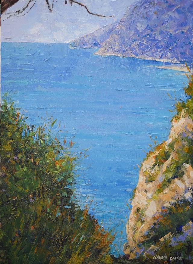 Claudio The Blue sea of Capri Island 50x70