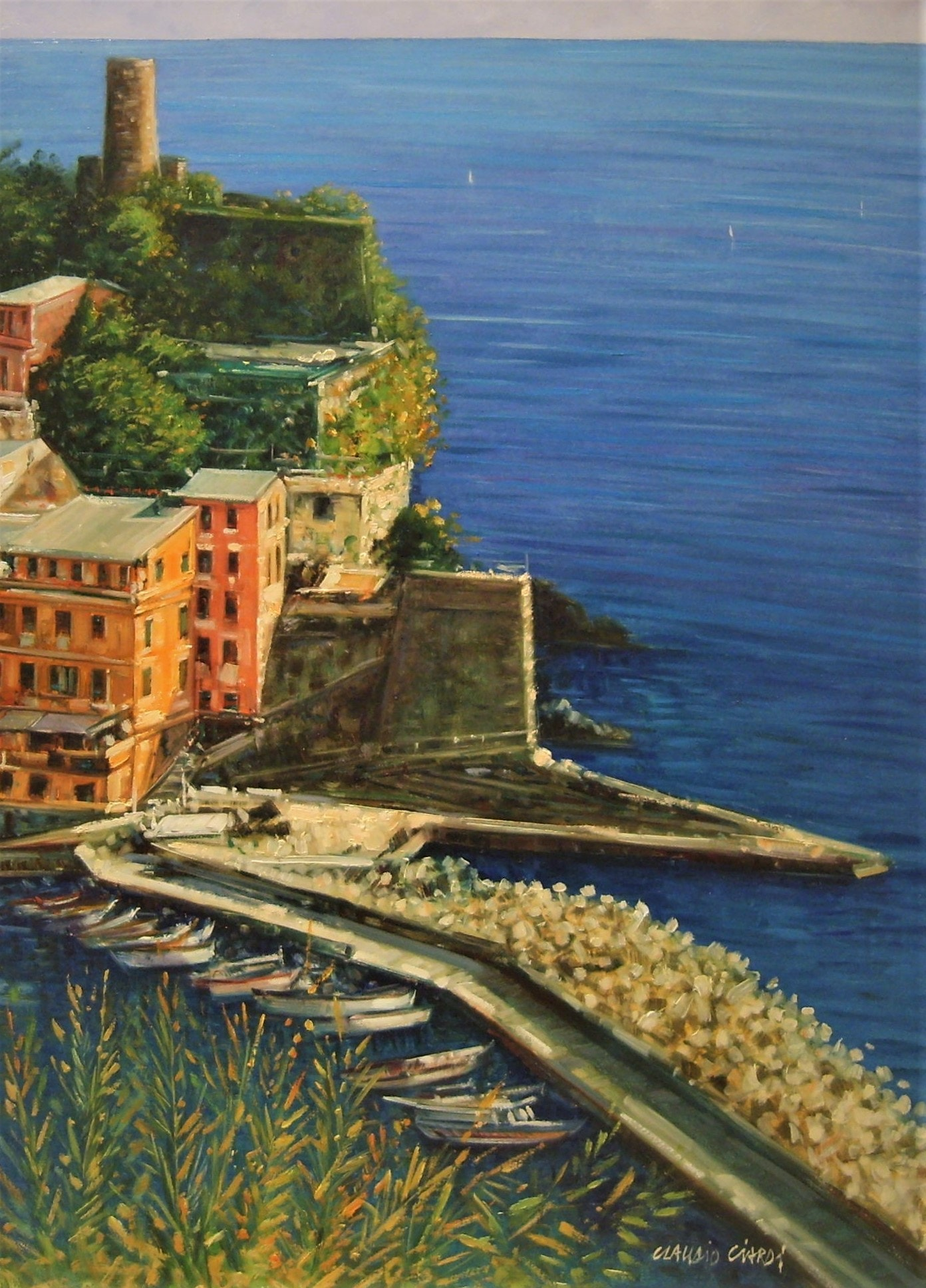Claudio The Castle of Vernazza 50x70