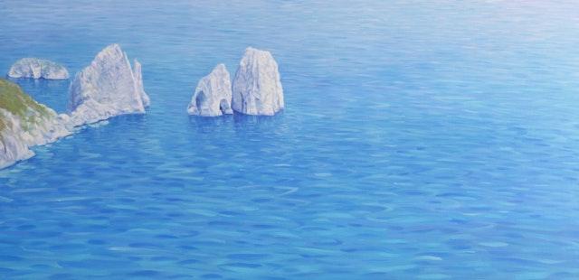 Claudio The Faraglioni in Capri Island 120x60