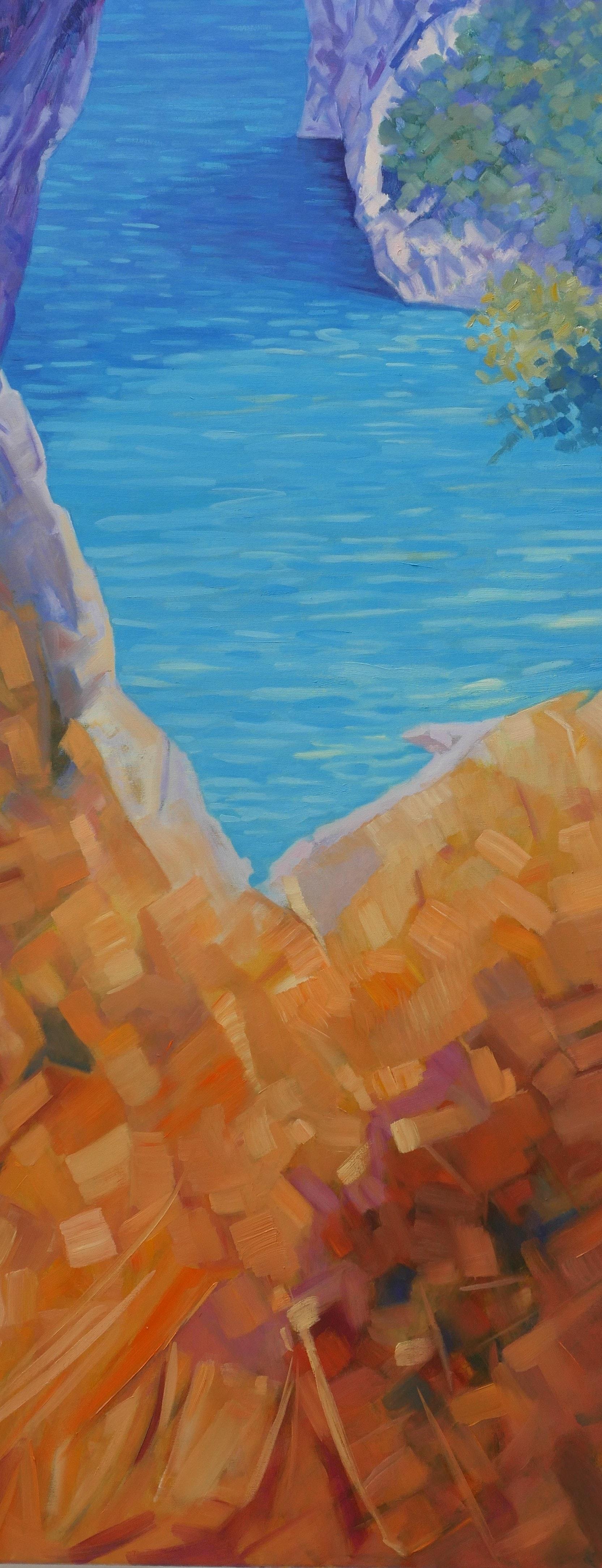 Claudio a Dip in the Sea of Capri Island 40x100