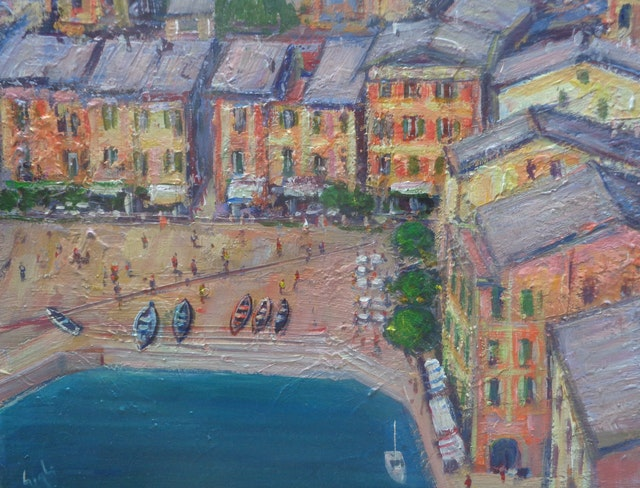 Gigli Portofino from the Sky 50x40