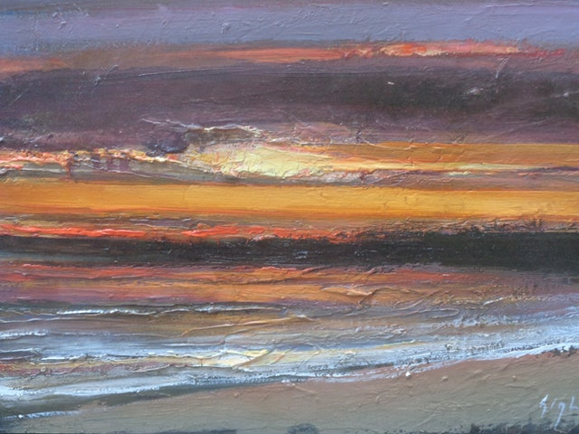 Gigli Sunset on the Sea 50x40
