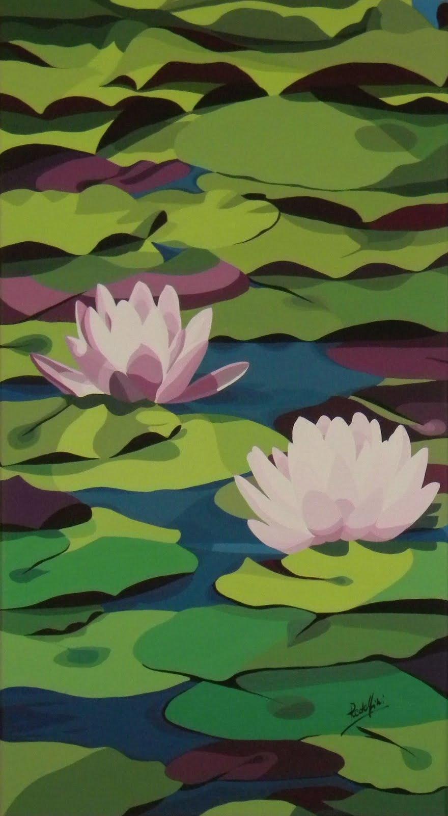Mariangela Water Lilies 38,5x69,5