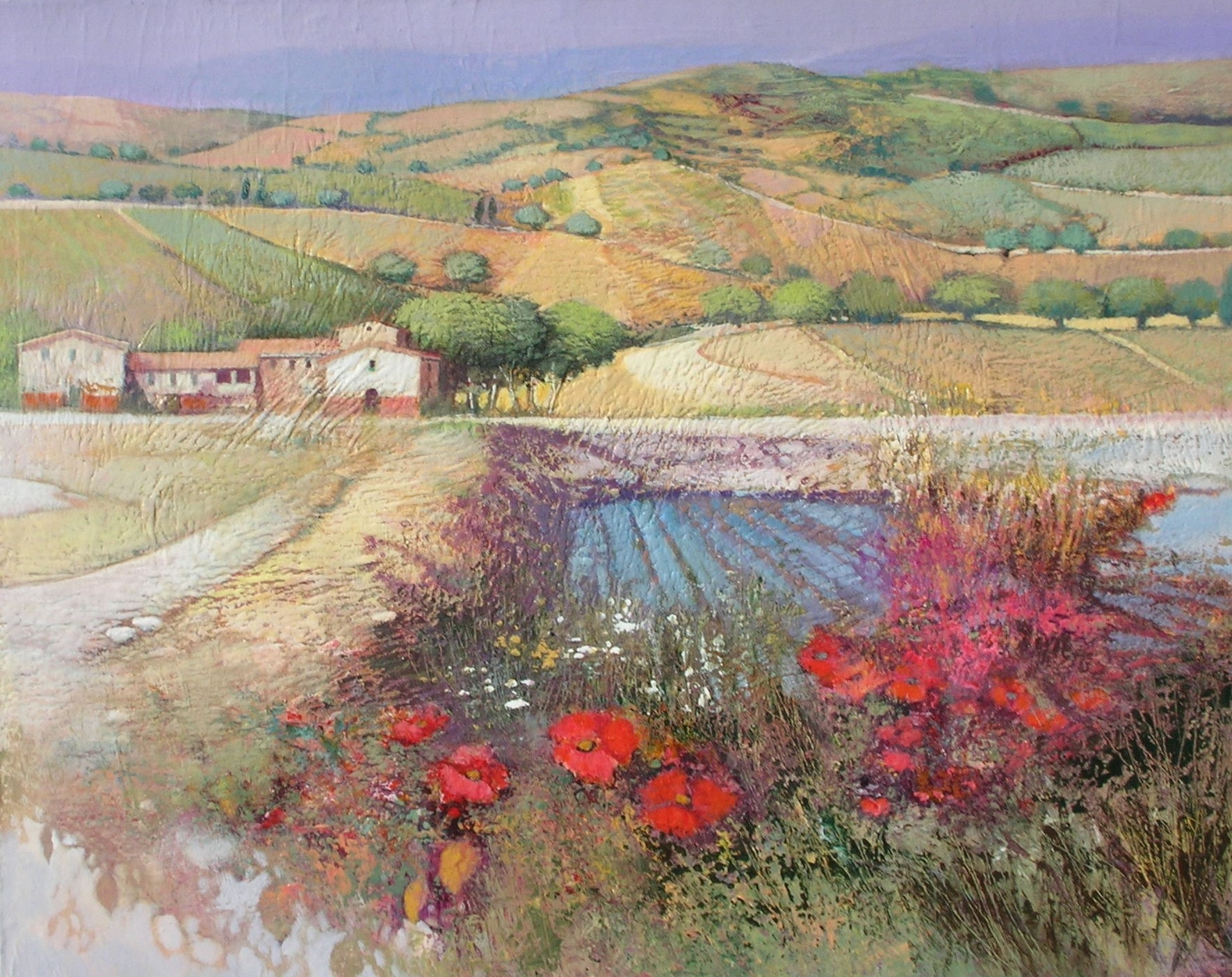 Nicola Paesaggio with Poppies 92x73