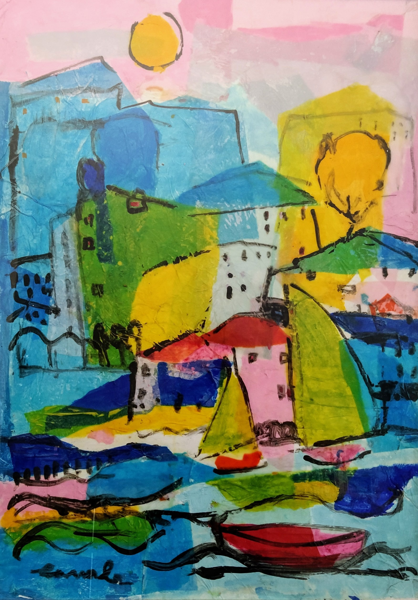 Pietro Ligurian Village 50x70