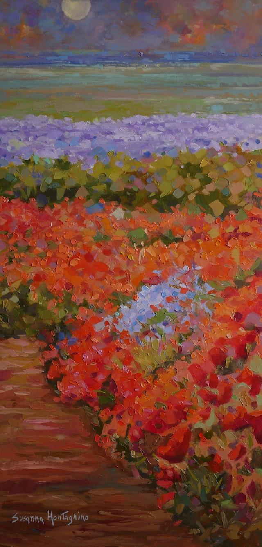 Susanna Flowering in red 40x80