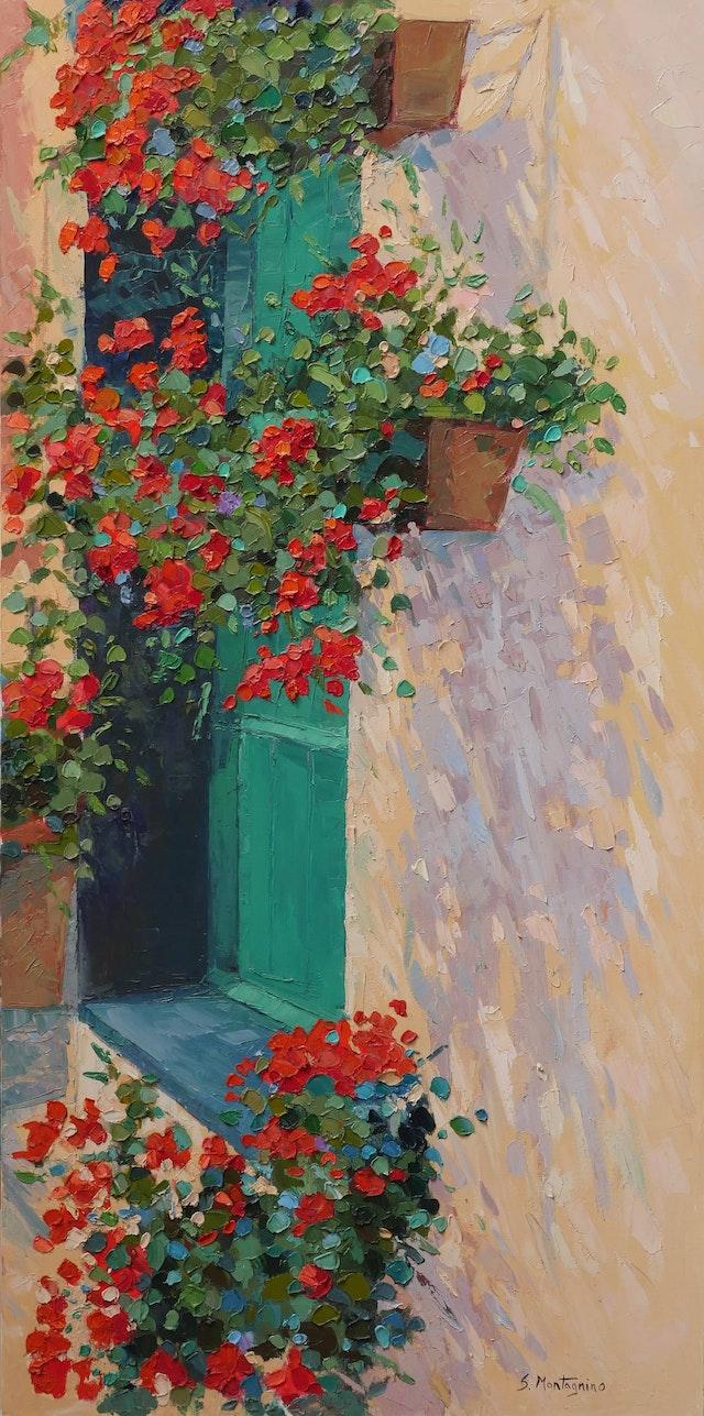 Susanna Geraniums 50x100